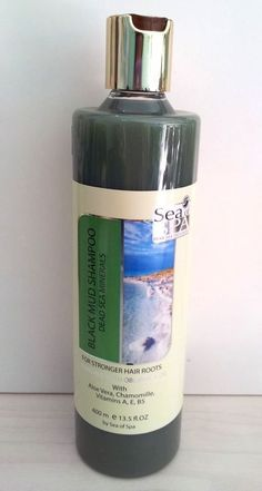Dead Sea Black Mud Shampoo For Stronger Hair Roots With Obliphica Oil Sea Of Spa #SeaofSpa