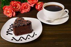 Good Morning My Friend, Good Morning Coffee, Coffee Break, Chocolate Fondue, Chocolate Cake, Chocolates, Cake Name, Coffee Heart, Cafe Art
