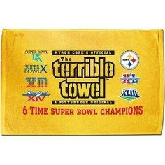 One Size Fits All. Decorated with team graphics, Super Bowl® logos, and the Super Bowl® Champions logo. A must-have for the die-hard Steelers fan, this officially licensed Pittsburgh Steelers Terrible Towel, Pittsburgh Steelers Merchandise, Super Bowl Xl, Champion Logo, Steeler Nation, Nfl, Sports, Die Hard, Crowd
