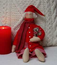 Vicky und Ricky: Christmas Tilda Angel with Teddy