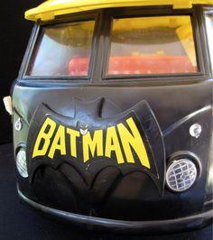 1974 vintage Mego Batman mobile bat lab