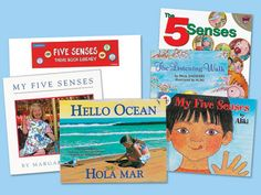 Lakeshore's Five Senses Theme Book Library has five super-engaging paperback books specially selected to help kids learn all about their senses