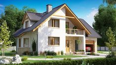 BW-10 wariant 5 - zdjęcie 2 Home Fashion, Cabana, My House, Shed, Exterior, Outdoor Structures, Mansions, House Styles, Beautiful