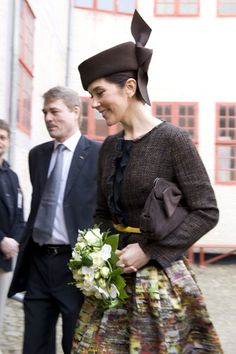 Crown Princess Mary went to the Old Town in Arhus       photos(billedbladett)