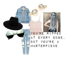 """You're ripped at every edge, but you're a masterpiece -HALSEY"" by lizzie-lulu13 on Polyvore featuring Steve J & Yoni P, Alexis Bittar, Topshop, Revo and rag & bone"