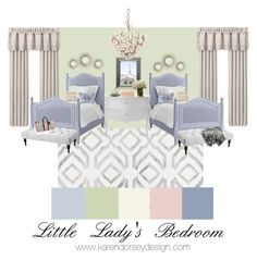 """Little Lady's Bedroom"" by karendorseydesign on Polyvore featuring interior, interiors, interior design, home, home decor, interior decorating, M&Co, nuLOOM, J. Queen New York and Redford House"