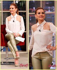 Esra Erol   Turkish fashion. Loving the blouse