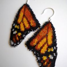 Monarch earrings on Etsy. Love them! I am gonna try making them.