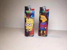 Items similar to Lighter Pairs on Etsy Custom Lighters, Cool Lighters, Bic Lighter, Lighter Case, Hippie Trippy, Zombie Disney, Marijuana Art, Get Schwifty, Pipes And Bongs