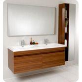 Double Sink for kids - Fresca Largo Teak Wavy Double Sink Modern Bathroom Vanity w/ Mirror & Faucets Double Sink Bathroom, Double Sink Vanity, Vanity Set With Mirror, Wall Mounted Vanity, Bathroom Sink Vanity, Modern Bathroom, Double Sinks, Teak Bathroom, Wood Vanity