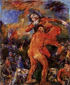 1958 'Theseus and Antiope' by  Oskar Kokoschka (Pöchlarn, Austria 1886~1980 Montreux, Switzerland)