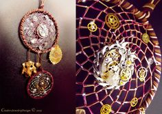Steampunk dreamcatcher clockwork by CindersJewelryDesign on Etsy