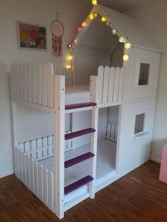 """CASTLE PLANS Visit our website for more information on """"modern bunk beds for children"""".Visit our website for more information on """"modern bunk beds for children"""". It is a great place to read more. Bunk Beds Small Room, Bunk Beds For Girls Room, Cool Bunk Beds, Big Girl Rooms, Kids Bedroom, Small Rooms, Loft Beds, Master Bedroom, Mydal Ikea"""