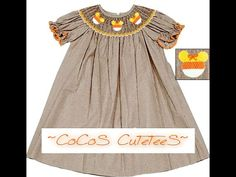 CUSTOM LISTING-Candy Corn Minnie-style Smocked Dress