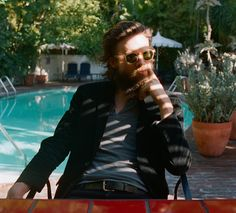 Father John Misty (Josh Tillman) by Emma Tillman Pappa Johns, Champagne, Chateau Marmont, Father John, Aesthetic Boy, Sartorialist, Music Film, Successful Women, I Love Girls