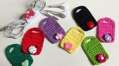 Miniature cushion with little Crochet Eyes, Crochet Cord, Crochet Diy, Love Crochet, Crochet Gifts, Crochet Stitches, Crochet Patterns, Crochet Phone Cases, Crochet Mobile