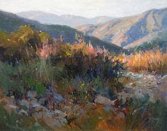 Last Light Ojai by Richard McKinley Oil ~ 16 x 20