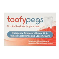 Toofy Pegs Crown & Filling Replacement: Emergency temporary repair kit to replace lost fillings and loose crowns Temporary filling material…