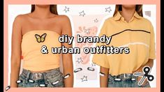 thrift flip with me and upcycle thrift clothes + make diy tube tops and crop shirts with me Casual School Outfits, Trendy Outfits, Diy Outfits, Tomboy Outfits, Grunge Outfits, Diy Shirt, Crop Shirt, Thrift Store Diy Clothes, Brandy Melville Outfits