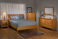 Cherry Sleigh Bed Sleigh Bed Frame, Sleigh Beds, Solid Wood Bedroom  Furniture, Bed