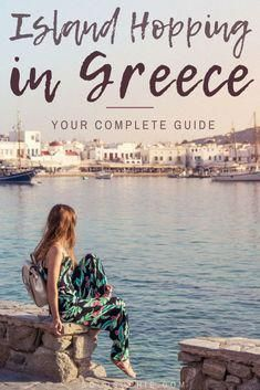 One Week Island Hopping in Greece_ Here's a complete travel itinerary, where to go, when to visit and how to see as many of the Cyclades Islands in Southern Europe! Voyage Europe, Europe Travel Guide, Backpacking Europe, Travel Destinations, Travel Abroad, Holiday Destinations, Greece Itinerary, Greece Travel, Greece Trip