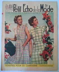 LE Petit Echo DE LA Mode N°24 DU 12 Juin 1938  