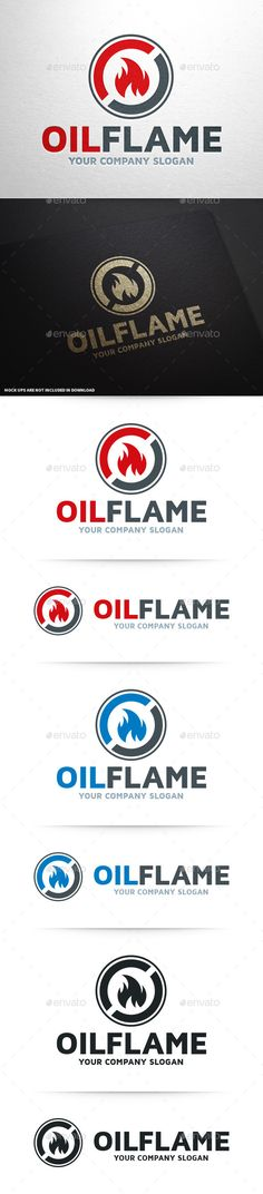 Oil Flame Logo Template — Vector EPS #circle #business • Available here → https://graphicriver.net/item/oil-flame-logo-template/10350930?ref=pxcr