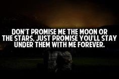 Dont promise...