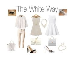 """""""Outfit White"""" by elly-rizzo on Polyvore featuring moda"""