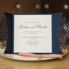 Elegant Laser Cut Wedding Invitation Cards SWWS008_3