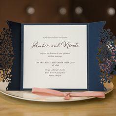 Elegant Laser Cut Wedding Invitation Cards SWWS008_3