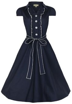 #FashionBug Womens Plus Size Norma 1940s WW2 #Landgirl #Pinup Tea Dress www.fashionbug.us
