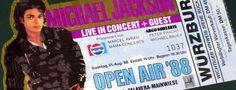 Michael Jackson Open Air Ticket | #michaeljackson #openair #live #concert #konzert #wuerzburg #1988 #kingofpop