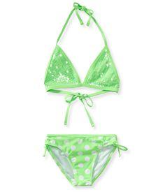 Kids' Sequin Polka Dot Bikini Set - PS From Aeropostale