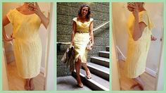 Mellow Yellow Dress BEFORE AND AFTER by Gema's Makings, via Flickr