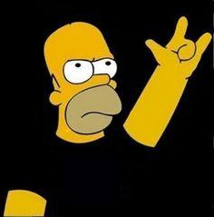 Homer Simpson curte Rock \,,/ #LittleRock