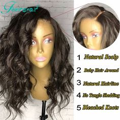 7A Wavy Short Human Hair Wigs Unprocessed Gluesless Full Lace Human Hair Wigs With Baby Hair For Black Women Lace Front Bob Wigs