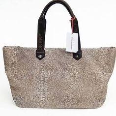 handbags-borsa-shopping-BORBONESE-tessuto-fantasia-fango-grigio