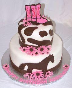 Western Birthday Cake ~ love!