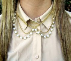 Pearl Collar Necklace  by byuma