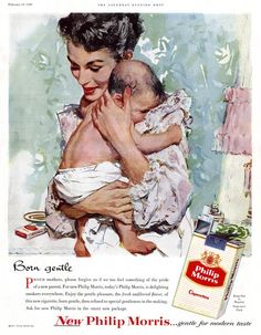 1940's advertising | Never has an illustration of mother and child looked so right ... and ...