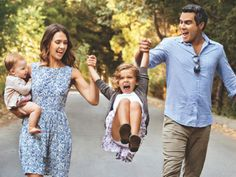 Jessica Alba and her husband and their kids-love her, she does great stuff for kids and moms and the environment