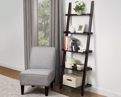 SOHL Furniture Exclusive Collection Leaning Bookshelf