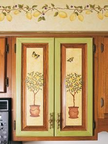 9 best stenciled kitchen cabinets images kitchens kitchen rh pinterest com