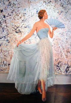 Blue Vintage Gown.