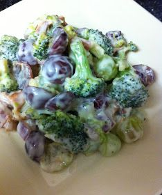 Eat Yourself Skinny!: Sweet Broccoli Salad-will try with Greek yogurt....