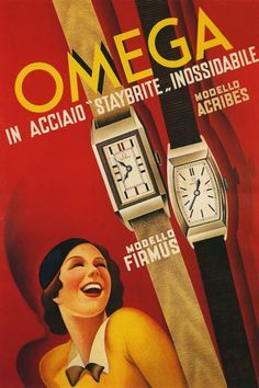 Vintage Advertising Posters | Omega Watches