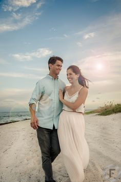 Engagement photo shoot at Bill Baggs Cape Florida State Park. Key Biscayne - Miami, FL