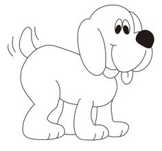 Dog Coloring Pages For Kids - Preschool Crafts Farm Animal Coloring Pages, Dog Coloring Page, Cute Coloring Pages, Coloring Books, Art Drawings For Kids, Drawing For Kids, Easy Drawings, Preschool Art Projects, Preschool Crafts