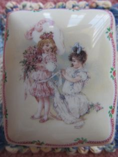 Vintage Porcelain Music Box